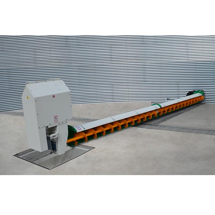 Silo-lediger, voor het legen van silo's met vlakke bodem.